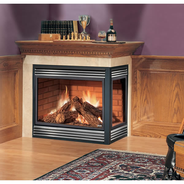 You can put a gas fireplace anywhere by using power-assisted venting!