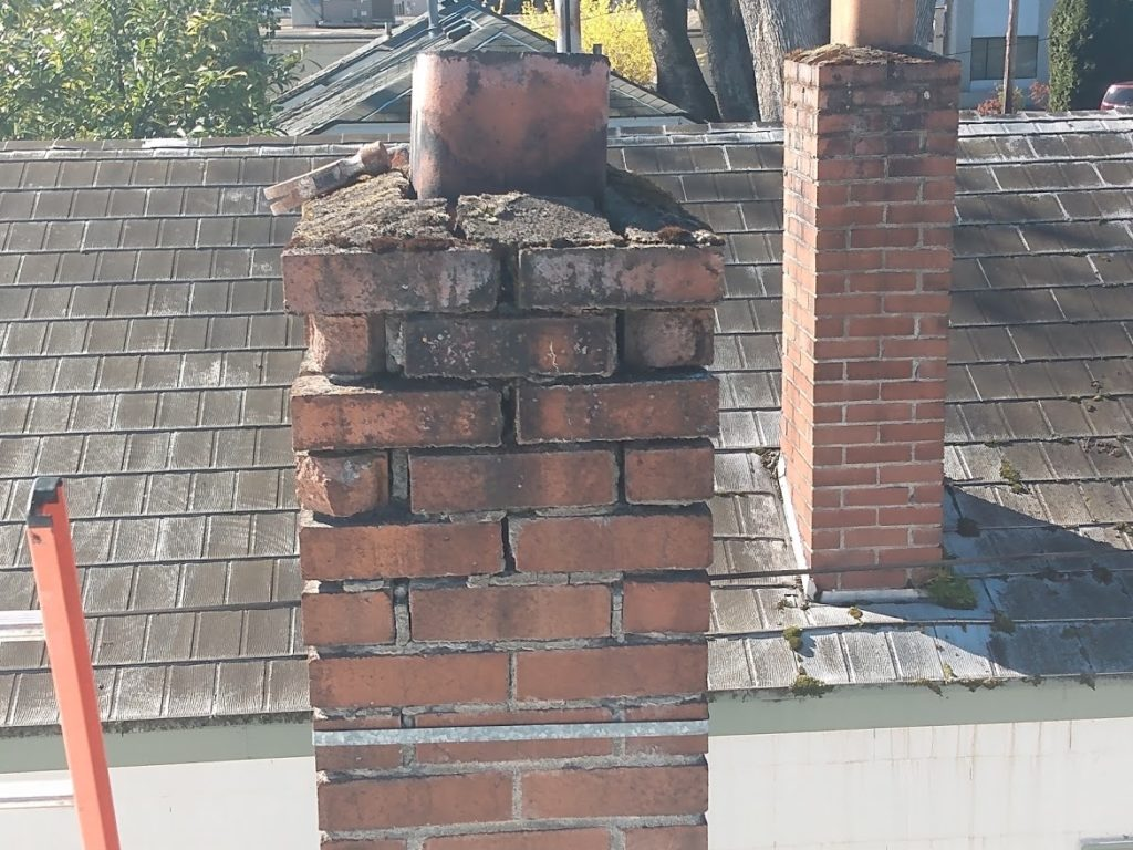 Chimney needs tuckpointing and some rebuilding.