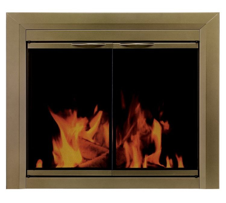 Glass fireplace doors for DIY homeowners